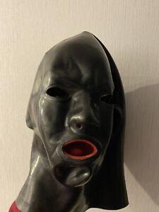 Latexmaske Mit Mundauskleidung & Nase *Top* Gr.L   eBay