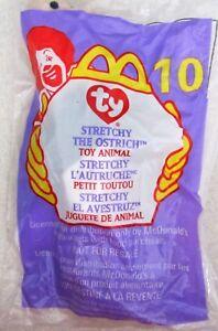 Ty Teenie Beanie Baby STRETCHY the OSTRICH  10 1999 McDonald s Happy ... 21c3238f760b