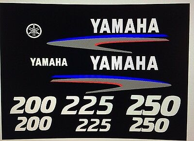 Sticker Kit Marine Die-Cut Vinyl Yamaha 200hp Outboard Decals
