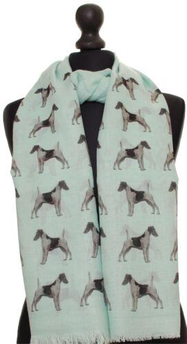 Liscia CAPELLI Fox Terrier sciarpa con i cani a DOG Print Sciarpe per le donne