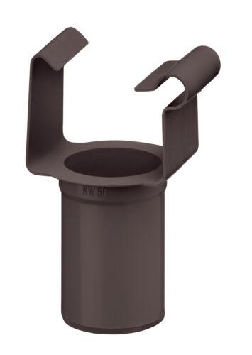 Dunkelbraun kastenförmig Kunststoff, NW 68 INEFA Ablaufstutzen DN 50