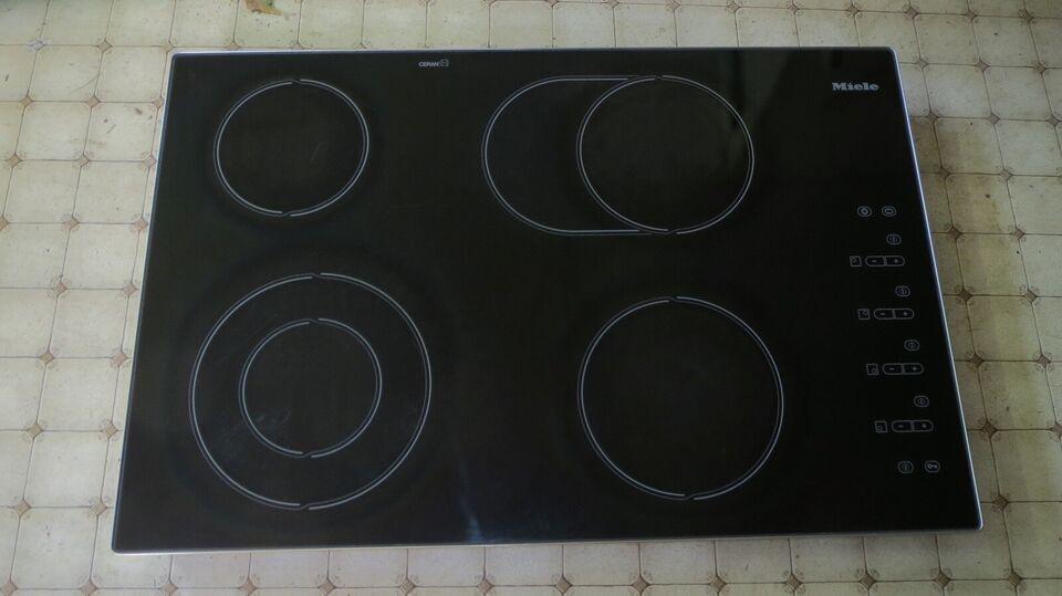 Glaskeramisk kogeplade, Miele KM 443, b: 76 d: 50 h: 5