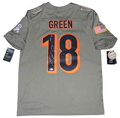 AJ GREEN SIGNED CINCINNATI BENGALS SALUTE TO SERVICE NIKE LIMITED JERSEY BECKETT | eBay