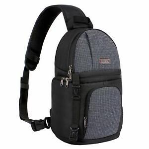 Mosiso Fashion DSLR Camera Sling Bag Case Sling Backpack for Nikon Canon Sony