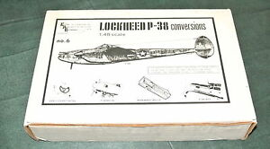 1/48 conversions Lockheed P-38 (# 2) sous forme de vac pour: P-38f / F-5a P-38m F-5e