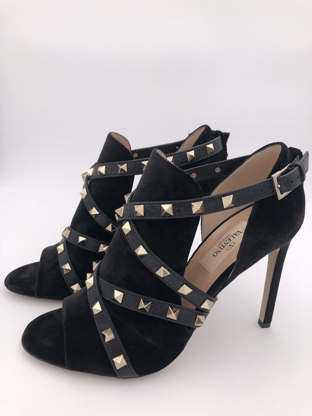 Valentino Garavani Peep Toes schwarz Gr. 38,5 LP  890 EU EU 890 NEU c5abcd