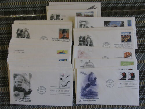 USA 1998 IMPRESSIVE COLLECTION OF 84 CACHET FDC ALL DIFFERENT