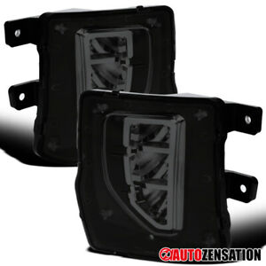 For-2016-2018-Chevy-Silverado-1500-Smoke-LED-DRL-Fog-Lights-Bumper-Lamps-Switch