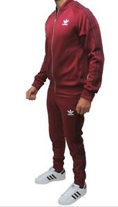 bf371985ceac New Men s Adidas Originals Superstar Mesh Burgundy Tracksuit Full ...