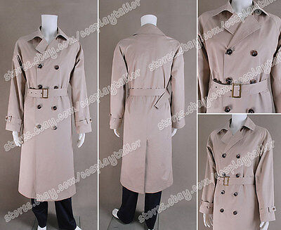 Supernatural Cosplay Angel Castiel Costume Trench Coat Jacket Custom Made New