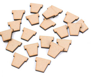 25 x Wooden MDF Ribbon Shapes Bows for craft Embellishments Family Tree 2cm