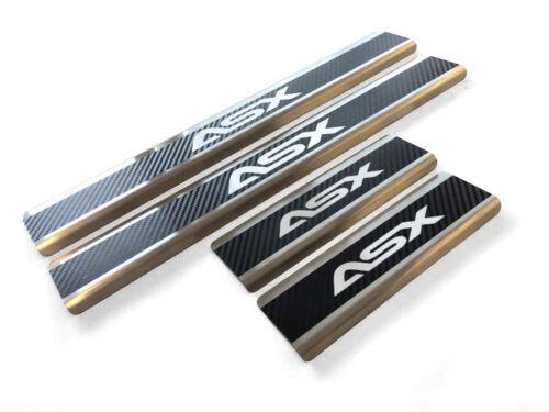Top Edelstahl Carbon Style Einstiegsleisten für Mitsubishi ASX bj.2011-2019