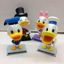 DISNEY TREASURES DONALD DUCK EDITION SET of 4 MINI FIGURINES from Upper Deck