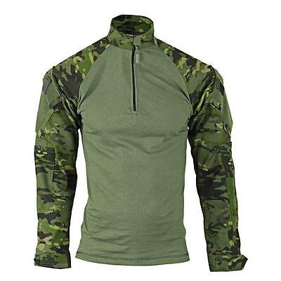TRU-SPEC 2537 Multicam Tropic Camo Combat Shirt MEDIUM LONG 1/4 Zip Uniform