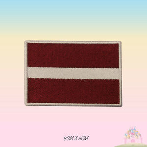 Latvia National Flag Embroidered Iron On Patch Sew On Badge