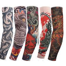 5pcs Tattoo Sleeve Mix Nylon Stretchy Temporary Sleeves Fashion Arm Stocking New