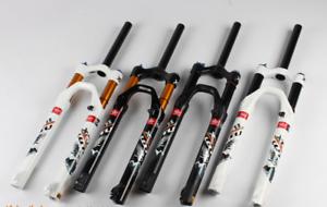 "MTB Road Bike Bicycle Manual Front Forks Air Shock Suspension Fork 26//27.5//29/"""