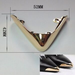 Details about  /2 X Women Shoe Toe Head Metal Pointed Cap Cover Protector DIY Repair Decoration