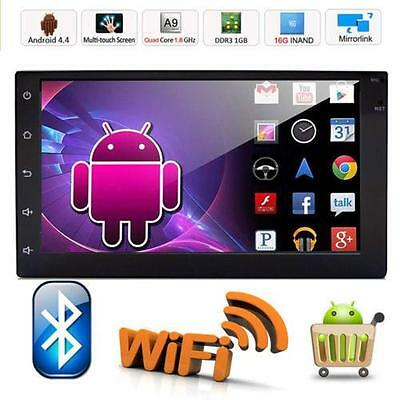 "Quad Core Android 4.4 3G WIFI 7""Double 2DIN Car Radio Stereo DVD Player GPS Nav"