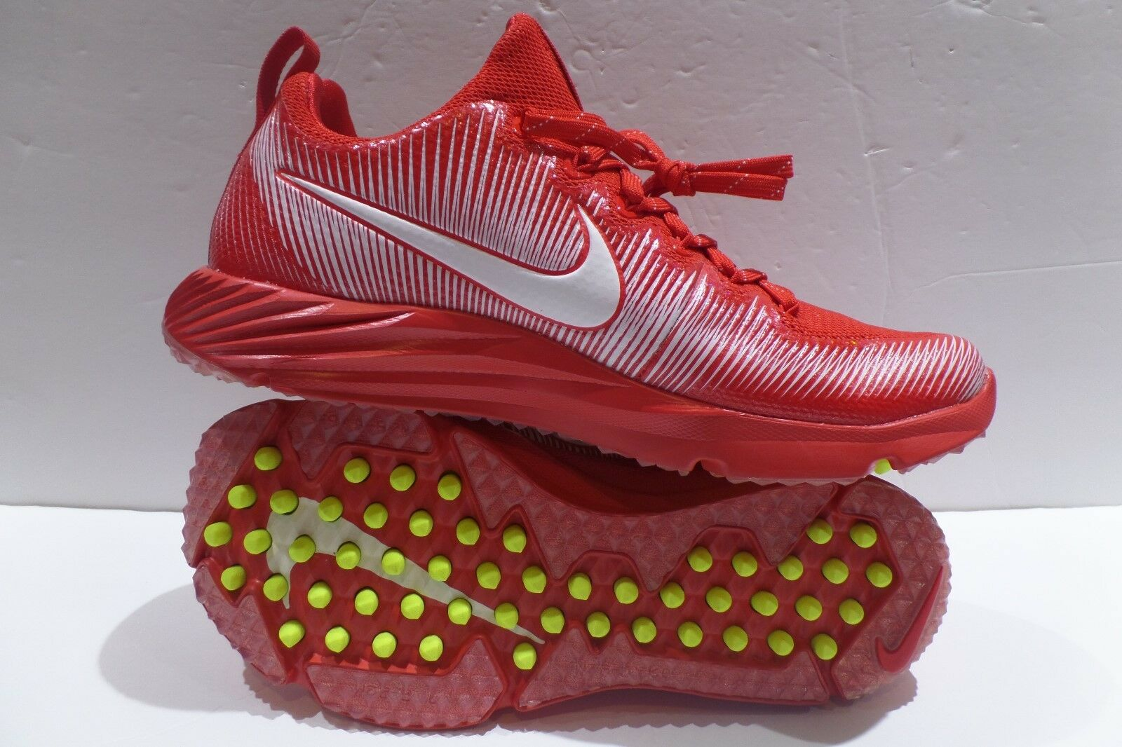 Nike Vapor Speed Turf Lax Football Trainer Shoes Red White Size 8.5