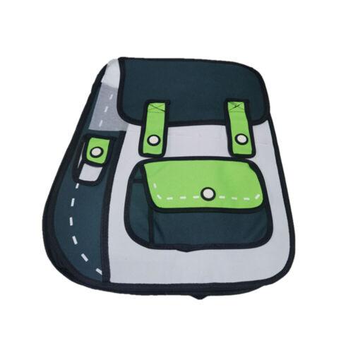 3D Cartoon Jump Style Drawing  Backpacks Personal Bookbag Shoulder bag Backpacks