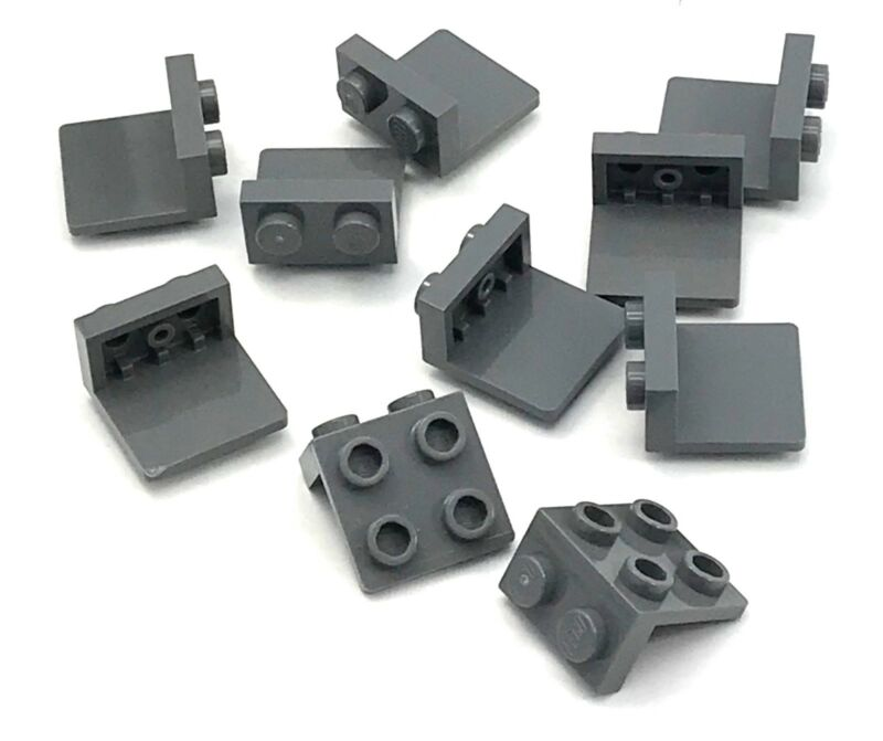 Lego 50 New Light Bluish Gray Tiles Modified 2 x 2 Triangular Pieces