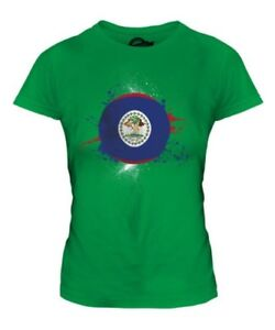 Belize-Football-T-Shirt-Femme-Haut-Cadeau-World-Cup-Sport