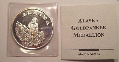 Prospector Gold Panner 1 oz .999 Silver Divisible Bullion 49er BU Round USA Coin