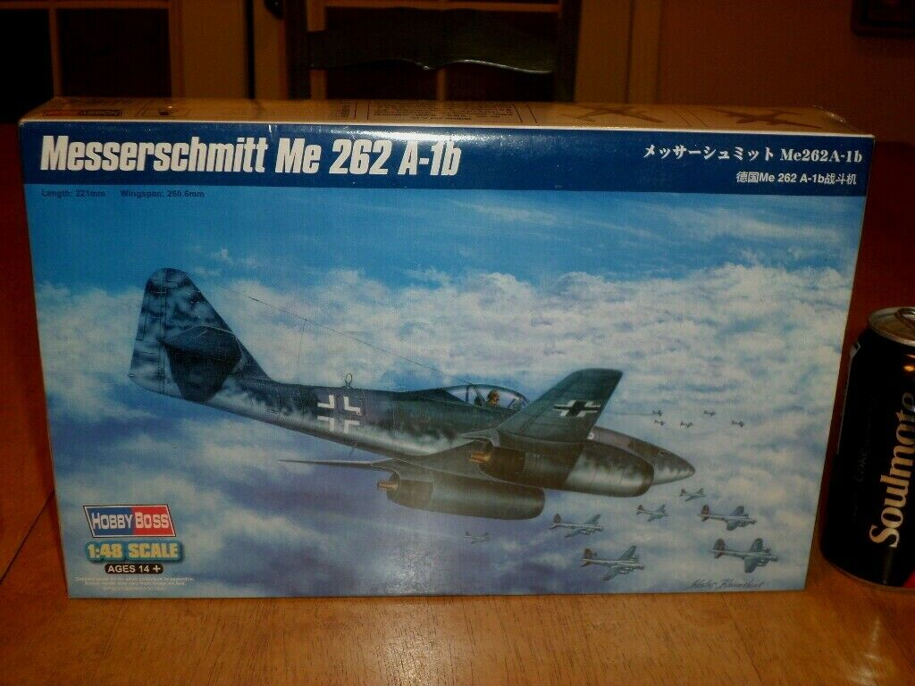 WWGERMAN, MESSERSCHMITT - Me 262 A-1b FIGHTER, PLASTIC MODEL KIT, Scale 1 48