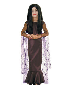 Kids Morticia Addams Family Costume L Age 8 10 Height 142 152 Cm Ebay