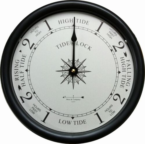 "9 1//2/"" TIDE CLOCK BY WEST /& CO."