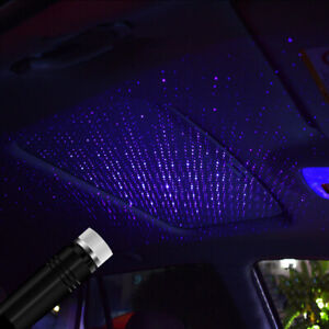 USB-Car-Interior-Atmosphere-Star-Sky-Lamp-Ambient-Star-Light-LED-Projector-Nice