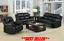 thumbnail 4 - Leather Aire Recliner Sofas Valencia 3+2+1 Black Brown Cream Grey Tan Modern