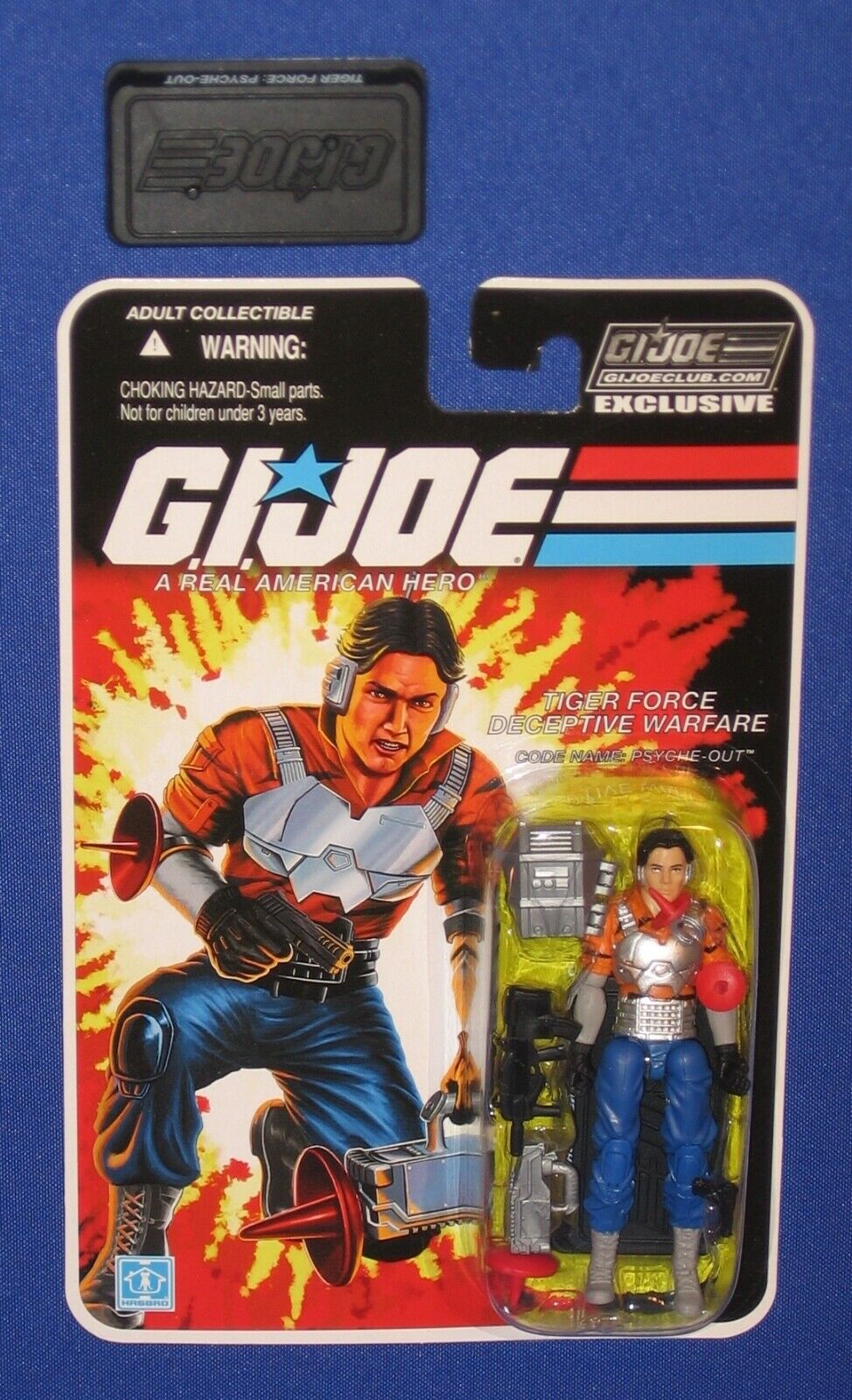 GI Joe Tiger Force Psyche Out 4  Action Figure 2019 FSS Club Exclusive Stand MOC