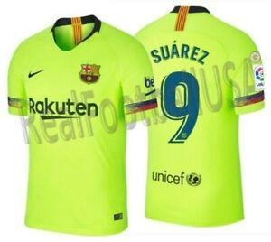bfd098368c4 NIKE LUIS SUAREZ FC BARCELONA AUTHENTIC VAPOR MATCH AWAY JERSEY 2018 ...