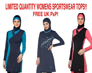 AlHamra-Womens-Modest-Sports-Yoga-Swimwear-Tunic-Top-Stretch-Cycling-Sportwear