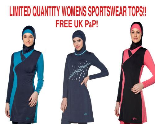 AlHamra Womens Modest Sports Yoga Swimwear Tunic Top Stretch Cycling Sportwear