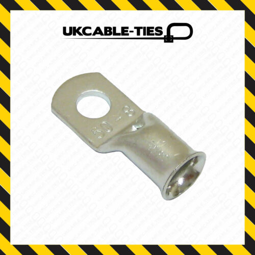 50mm Cable Copper Tube Terminals Battery Starter Cable Lugs Eyelets