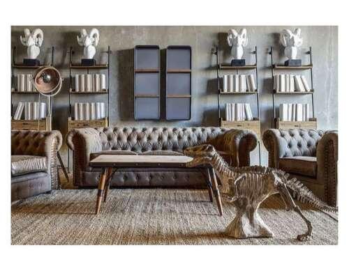 Conjunto de sofá tapizado sofá Klassik Chesterfield 3 plazas set nuevo napoli V