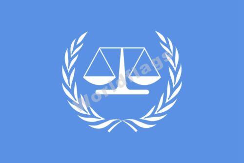 ICC Flag International Criminal Court 3X2FT 5X3FT 6X4FT 8X5FT 100D Polyester