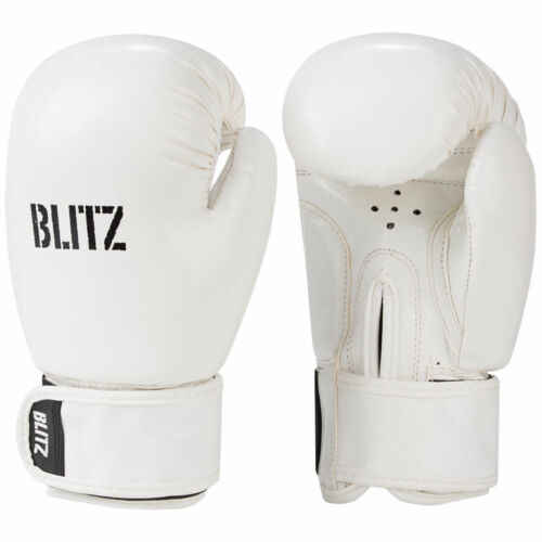 Blitz 6oz Kids White Carbon Boxing Gloves
