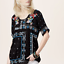 JOHNNY-WAS-Embroidered-DANNY-Short-Sleeve-Tunic-BLOUSE-Floral-S-268-NWT thumbnail 7