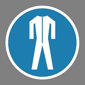 Schutzkleidung-benutzen-Aufkleber-Sticker-Schild-Hinweis-Verbotsschild