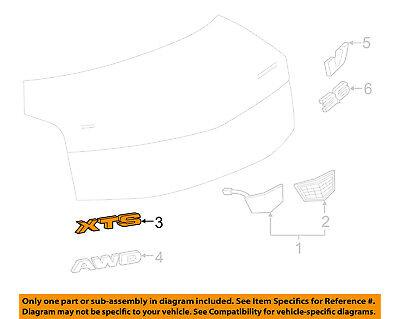 Chevrolet GM OEM 2018 Impala Trunk Lid-Emblem Badge Nameplate 23508373