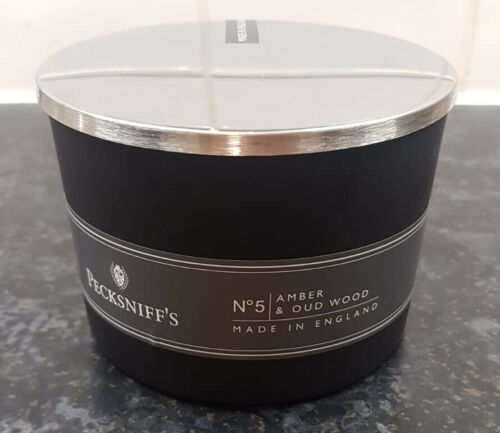 Pecksniffs No5 Oud /& Wood Candle 3 Wick 300g