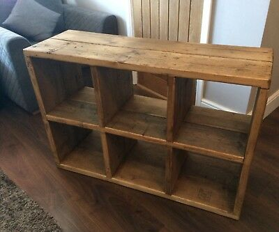 Rustic Solid Wood Cube Storage Unit Toy Storage Ebay