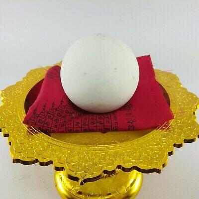 WHITE LEKLAI CAVE PEARL ARAHANT STONE LP SOMPORN REAL MAGIC Lucky THAI AMULET