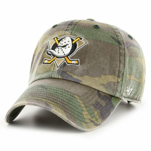 CLEANUP Anaheim Ducks washed camo 47 Brand Relaxed Fit Cap