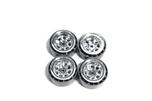 Micro Crawler 1//24 Beadlock Wheels 1.0 SCX24 chrome