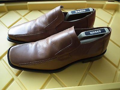 Para hombres Cuero Marrón De Zinc inteligente o Casual Sin Cordones Zapatos Uk 10